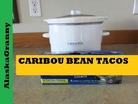 Crock Pot Bean Tacos with Caribou