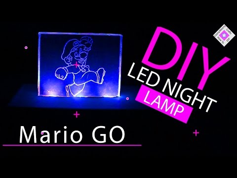 DIY Mario RUN LED Night Lamp (Tutorial) - How To Make A LED Lamp in Mario RUN Style