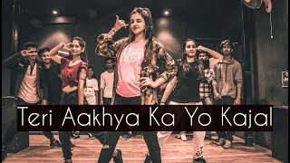 Teri Aakhya Ka Yo Kajal | ONE TAKE | Tejas Dhoke Choreography | Dancefit Live