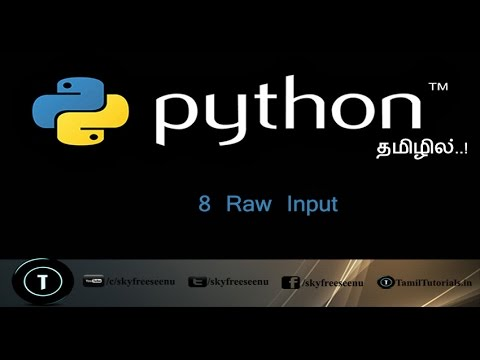 Python Tutorial in Tamil 8  Raw Input