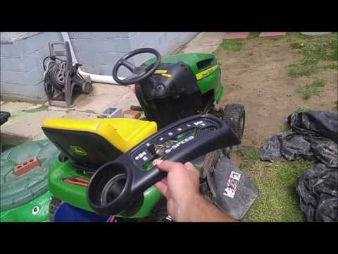 How to Remove Install Gear Shift Cover on John Deere LA100 Riding Lawnmower