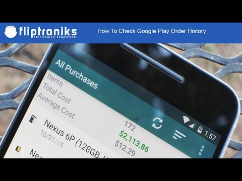 How To Check Google Play Order History - Fliptroniks.com