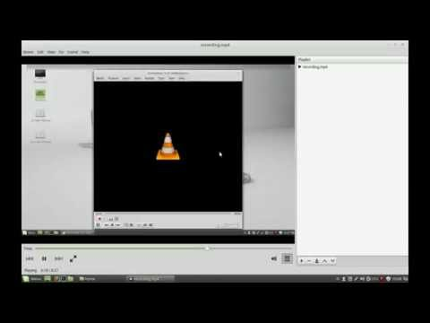 VLC screen recording with audio!