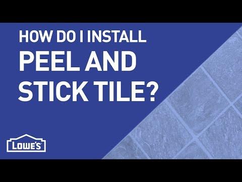 How Do I Install Peel-n-Stick Tile?   DIY Basics