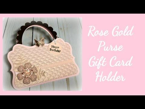 Rose Gold Purse Gift Card Holder