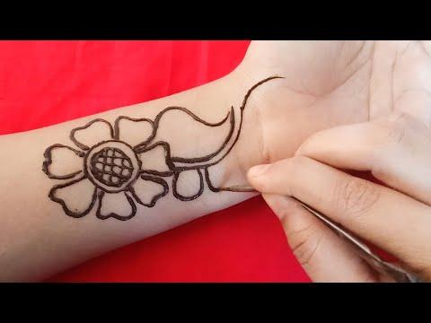 Simple Easy Arabic Mehndi Designs Full Front Hand Mehndi