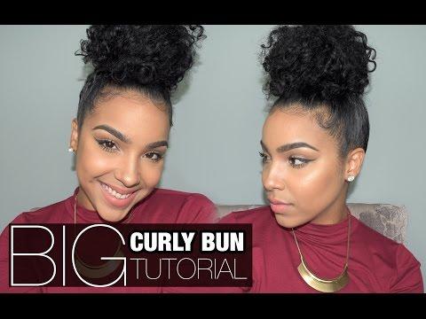 BIG Curly Bun Tutorial!