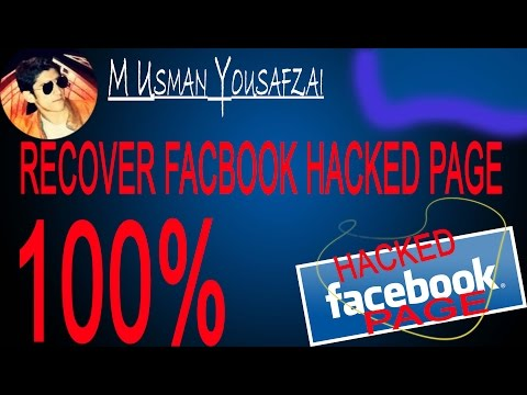 How to recover facebook stolen/hacked page