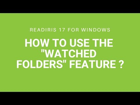 Readiris 17: watched folders