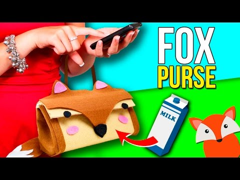 How to make a KAWAII 💕 FOX PURSE with a MILK CARTON🐺  Super EASY RECYCLED crafts 💞