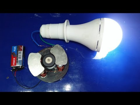 how to make Electricity from Magnet and Motor Free Energy Generator new Technology