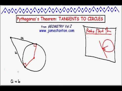 Tangent Theorems for Circles and the Pythagorean Theorem (Tanton Mathematics)