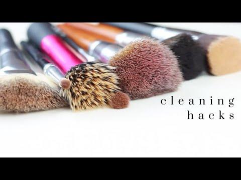 HOW TO CLEAN MAKEUP BRUSHES | DIY HACKS