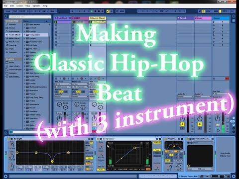 Making Classic Rap Beat (3 instrument) | Ableton Live 9 Tutorial