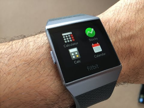 How to use Fitbit Ionic Apps (Stocks, Weather, Calendar, Alarm, Calc, Shutdown)