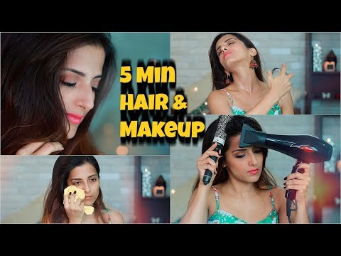 My Current EVERYDAY 5 MIN Hair & Makeup Routine: Get Ready With Me/ Knot Me Pretty