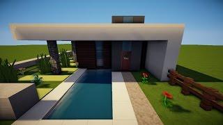 Minecraft Kleines Haus GrünGrau Bauen TutorialAnleitung - Minecraft hauser leicht zum nachbauen