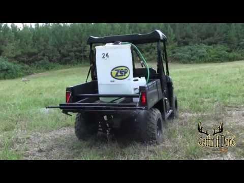 $100.00 DIY 55 gallon UTV Boomless Sprayer