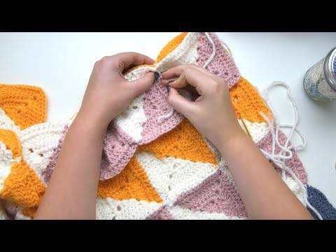 Joining Crochet Granny Squares with PERFECT Symmetry