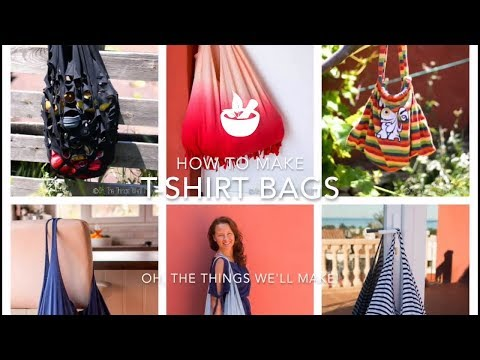Great ways to make t-shirt bags and backpacks!