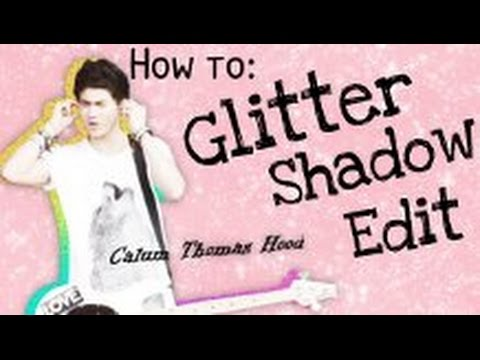 How to make a Glitter Shadow edit - Pixlr