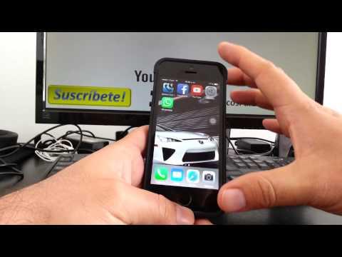 Cerrar o dar de baja una cuenta de correo Hotmail iPhone 5S 5C 5 4 iOS 7 español Channeliphone