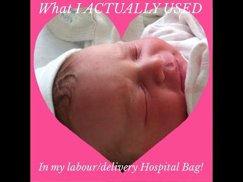 What I ACTUALLY USED in my Labour/Delivery Hospital Bag!