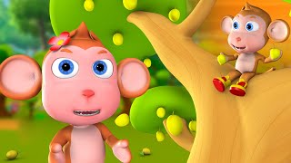 The Learning Baby Monkey 3D Animated Hindi Kids Moral Stories बंदर को सीख हिन्दी कहानी Fairy Tales