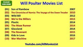 Will Poulter Movies List
