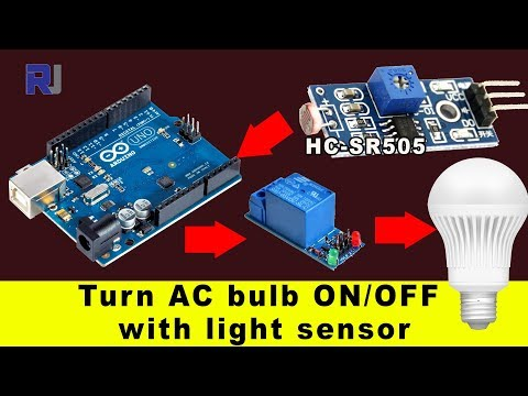 How to use Light Sensor module to Turn ON and OFF AC bulb automatically withe Arduino