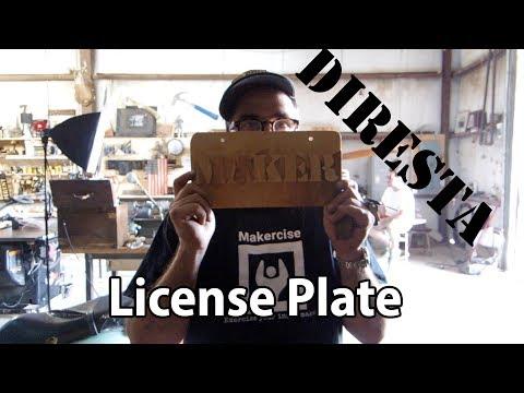 Build: A custom novelty license plate for Jimmy Diresta
