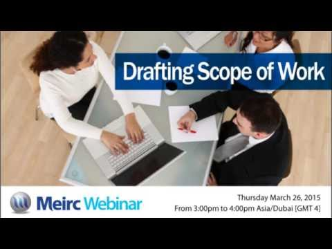 Drafting scope of work | Contracts Management | Dubai | Meirc