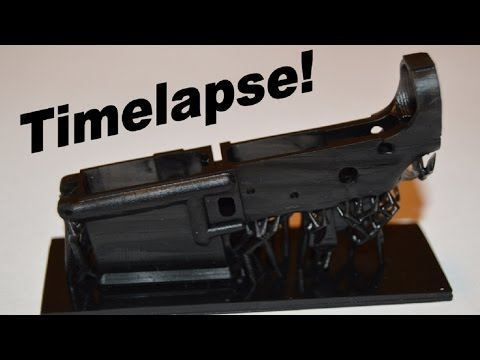3D Printed AR 15 Lower Receiver TimeLapse | 3D Facture Draken 3D Printer