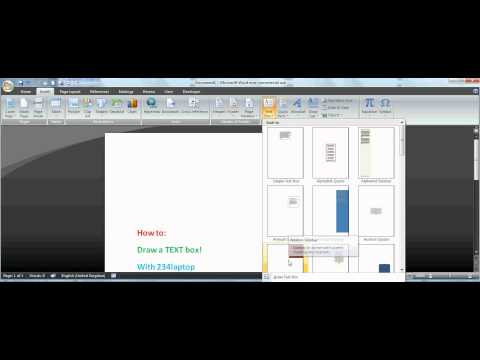How to: Draw a text box in Word 2007