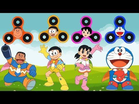 Baby Learn Colors with Fidget Spinner, Doraemon, Nobita, Shizuka, Jaian