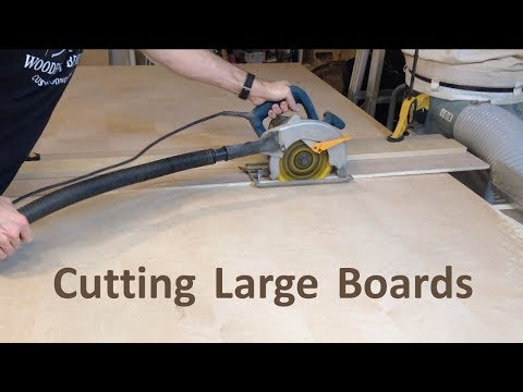 How to Cut Large Boards with at Circular Saw