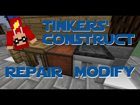 Minecraft - Mod Tutorial - Tinkers' Construct - Part 04 - Repairing and modifying tools