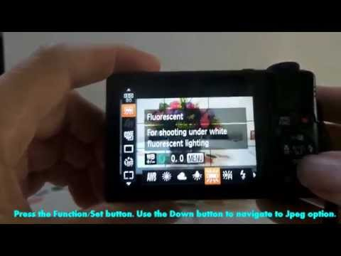 Canon Powershot S110/ S120- How to set camera to shoot raw file format