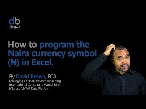 Excel tutorial: How to program the naira currency symbol in Excel 2 of 2
