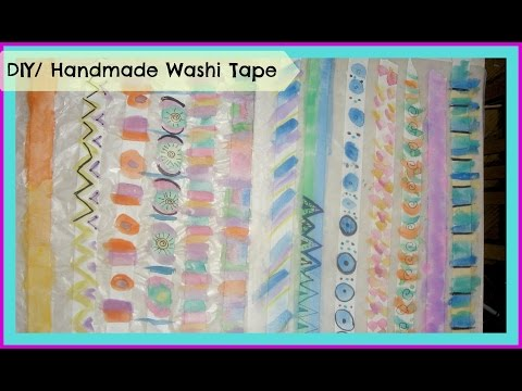 How to make your own DIY/ Handmade Washi Tape/ Tutorial