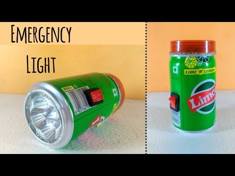 How To Make a Rechargeable Emergency LED Light at home by Using limca Can   DIY