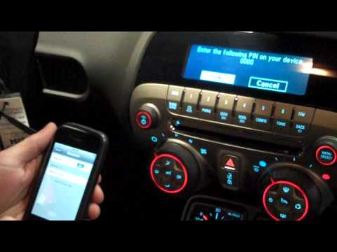 Stream music to the 2010 Camaro with an IPhone or ITouch using bluetooth wirelessly