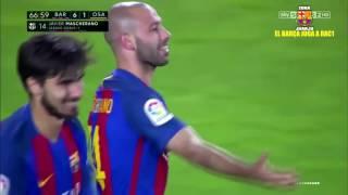 Primer gol de Mascherano FC Barcelona vs Osasuna [7-1][La Liga][26/04/2017] EL BARÇA JUGA A RAC1