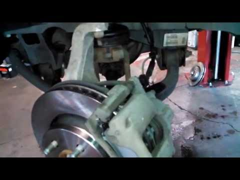 Front brake pad replacement Dodge Nitro 2007 - 2012 disc pads rotors Install Remove Replace