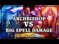 Archbishop Benedictus VS BIG Spell Damage Priest  ~ Kobolds & Catacombs ~  Hearthstone