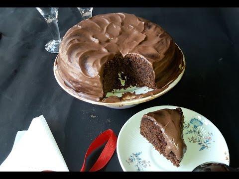 Eggless Chocolate Cake In Cooker | Chocolate Sponge Cake | Chocolate Cake With Ganache Recipe