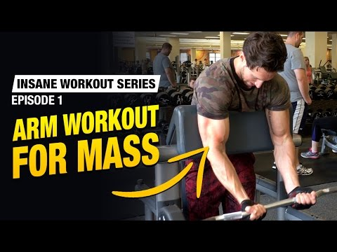 Arm Workout For Mass - 27 Sets (Insane Workout Series Ep. 1)