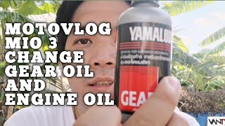 Yamalube Gear Oil| Mio 125i|vlog No. 046