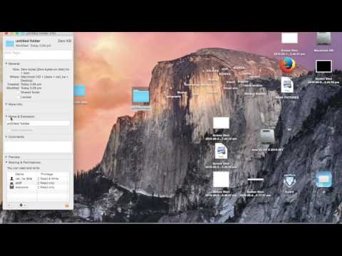 How to make a invisible folder on a MAC