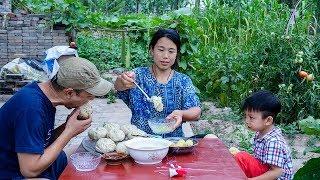 【农家的小勇】肉馅大包子皮薄馅大,丝瓜汤鲜香解暑,有汤有肉,吃的太过瘾了